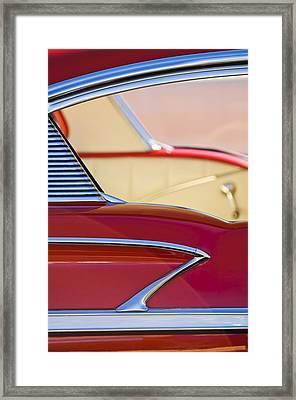 1958 Chevrolet Belair Abstract Framed Print by Jill Reger