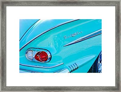 1958 Chevrolet Belair Taillight 2 Framed Print
