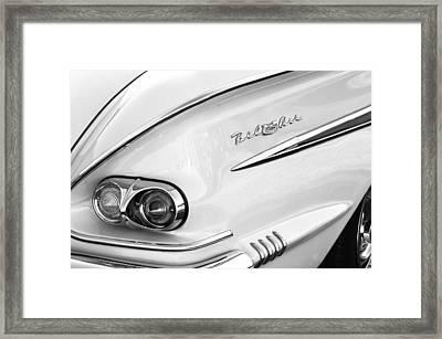 1958 Chevrolet Belair Taillight Emblem Framed Print