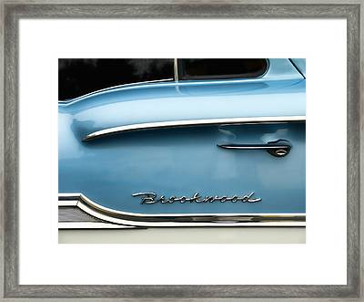 1958 Chevrolet Brookwood Station Wagon Framed Print by Carol Leigh