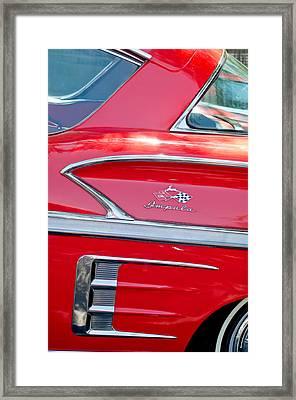 1958 Chevrolet Impala Emblem 4 Framed Print