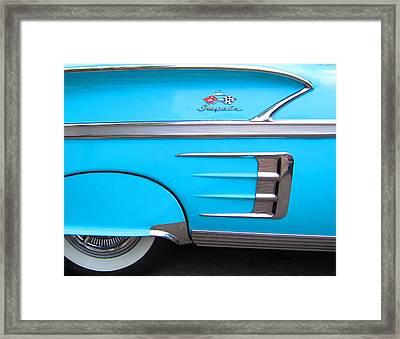 1958 Chevrolet Impala Framed Print by Sven Migot