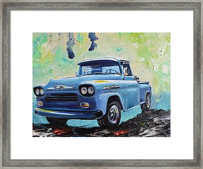 1958 Chevy Apache Pickup Truck Framed Print by Sheri Wiseman