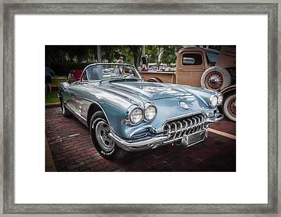 1958 Chevy Corvette Painted Framed Print