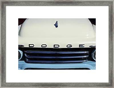 1958 Dodge Sweptside Truck Grille Framed Print