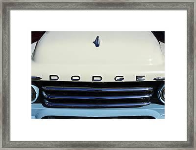 1958 Dodge Sweptside Truck Grille Framed Print by Jill Reger