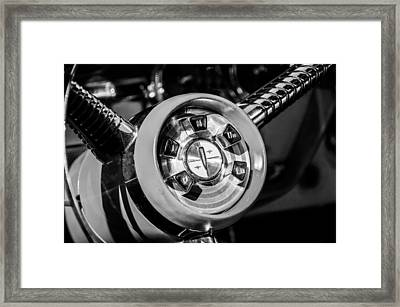 1958 Edsel Pacer Convertible Steering Wheel Transmission -0895bw Framed Print by Jill Reger