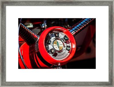 1958 Edsel Pacer Convertible Steering Wheel Transmission -0895c Framed Print