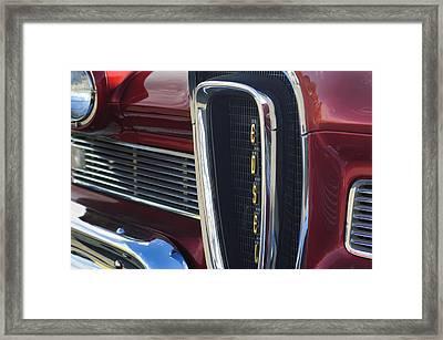 1958 Edsel Pacer Grille 2 Framed Print by Jill Reger
