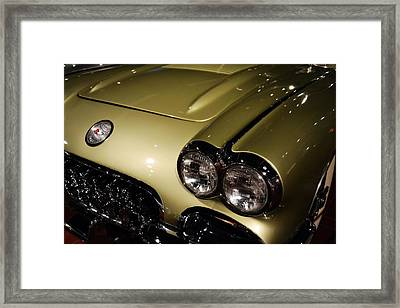 1958 Fancy Free Corvette J58s Framed Print
