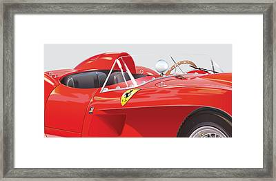 1958 Ferrari 250 Testa Rossa Detail Framed Print by Alain Jamar