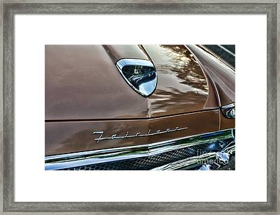 1958 Ford Fairlane 500 Skyliner Framed Print by Paul Ward
