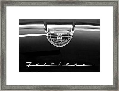 1958 Ford Fairlane 500 Victoria Hood Emblem Framed Print