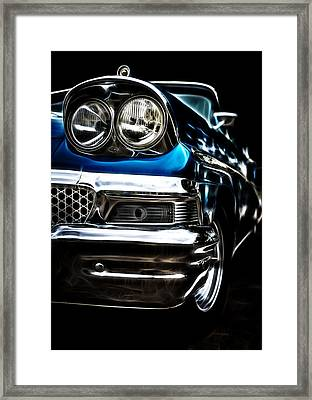 1958 Ford Fairlane Framed Print by motography aka Phil Clark