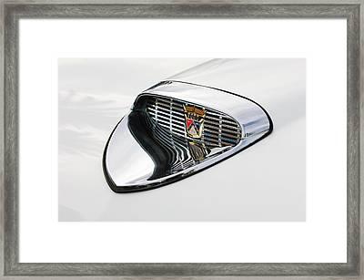 1958 Ford Hood Emblem Framed Print by Jill Reger