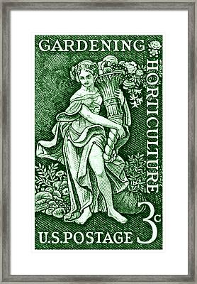 1958 Gardening And Horticulture Stamp Framed Print by Historic Image