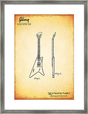 1958 Gibson Guitar Patent Framed Print