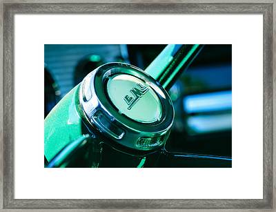 1958 Gmc Suburban Steering Wheel Emblem Framed Print by Jill Reger