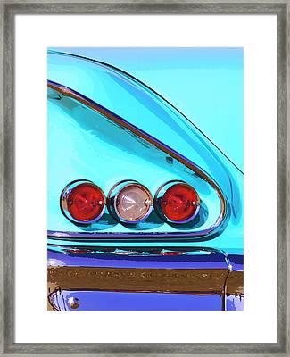 1958 Impala Palm Springs Framed Print by William Dey