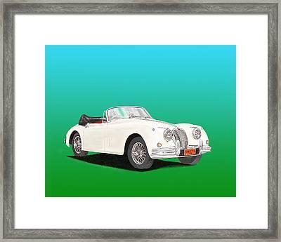 1958 Jaguar X K 150 S Cabriolet Framed Print by Jack Pumphrey