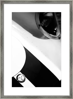 1958 Lister-chevrolet 'knobby' Sports-racing Two Seater Hood Emblem Framed Print by Jill Reger