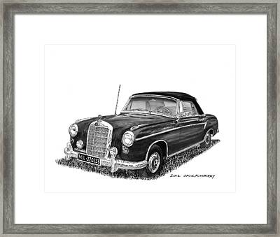 1958 Mercedes Benz 220s Framed Print