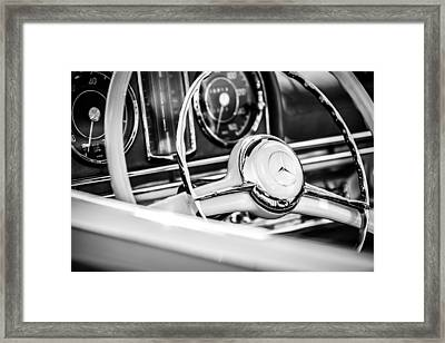 1958 Mercedes-benz 300sl Roadster Steering Wheel -1131bw Framed Print