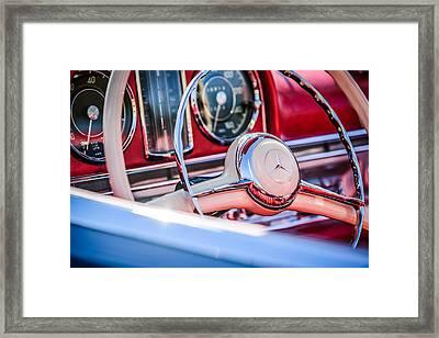1958 Mercedes-benz 300sl Roadster Steering Wheel -1131c Framed Print by Jill Reger