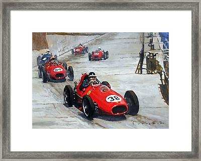 1958 Monaco Gp  Framed Print by Yuriy Shevchuk
