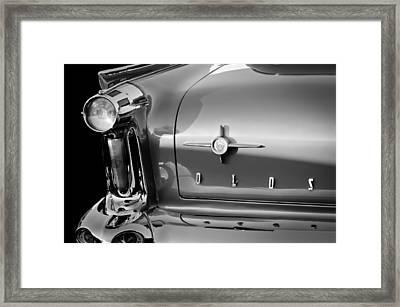1958 Oldsmobile 98 Taillight Emblem Framed Print by Jill Reger