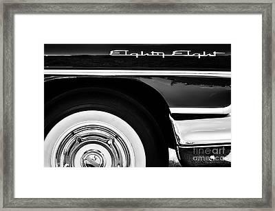1958 Oldsmobile Dynamic 88 Monochrome Framed Print by Tim Gainey
