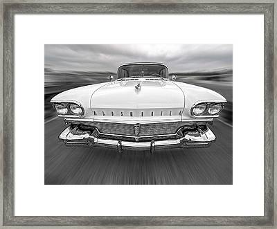 1958 Oldsmobile Rocket 88 Head On Framed Print