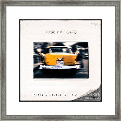 1958 Packard Framed Print by Steven Digman