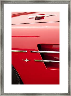 1958 Pegaso Z-103 Touring Berlinetta Side Emblem -1195c Framed Print by Jill Reger