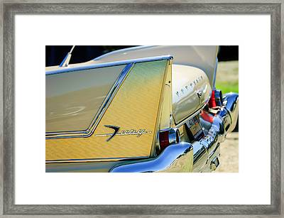 1958 Plymouth Fury Golden Commando Taillight Emblem -3447c Framed Print