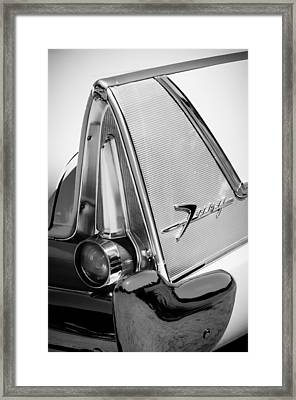 1958 Plymouth Fury Golden Commando Taillight Emblem -3467bw Framed Print by Jill Reger