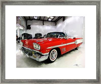1958 Pontiac Bonneville Convertible Framed Print by Robert Smith
