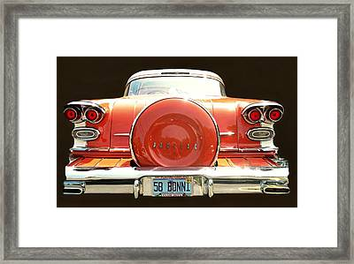1958 Pontiac Bonneville Framed Print by Diana Angstadt