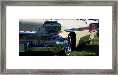 1958 Pontiac Strato Chief Framed Print by Davandra Cribbie