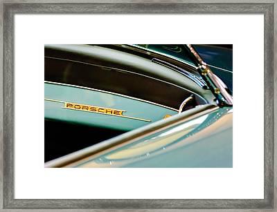 1958 Porsche 356 A Speedster Dash Emblem Framed Print by Jill Reger