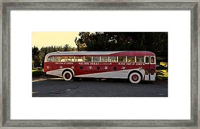 1958 Tour Bus Framed Print