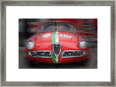 1959 Alfa Romeo Giulietta Watercolor  Framed Print by Naxart Studio