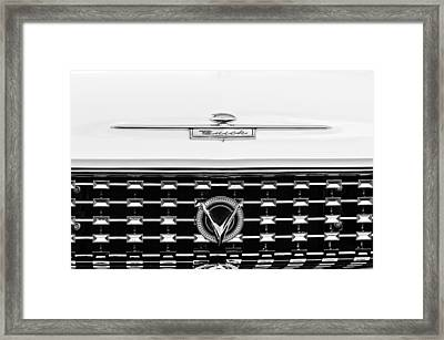 1959 Buick Lesabre Convertible Grille Emblems Framed Print by Jill Reger