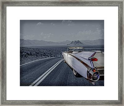 1959 Cadillac Eldorado Cool Night Framed Print