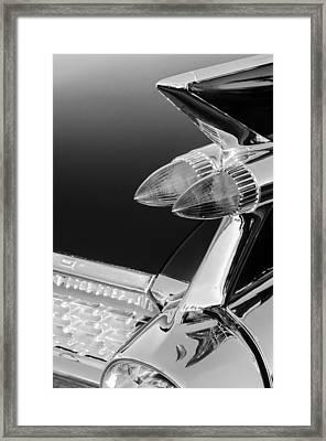 1959 Cadillac Eldorado Taillight -075bw Framed Print