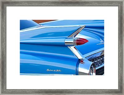 1959 Cadillac Sedan De Ville Taillight Framed Print by Jill Reger