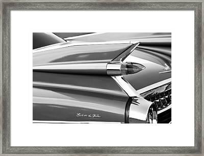 1959 Cadillac Sedan Deville Taillight Emblem Framed Print by Jill Reger