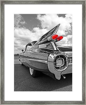 1959 Cadillac Tail Fins Framed Print by Gill Billington