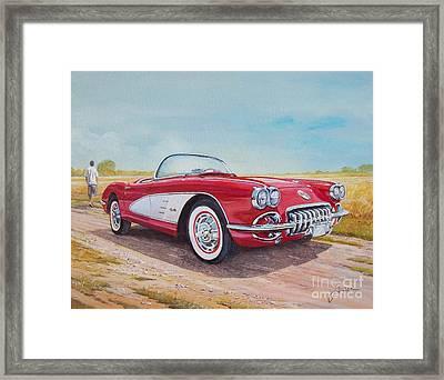 1959 Chevrolet Corvette Cabriolet Framed Print