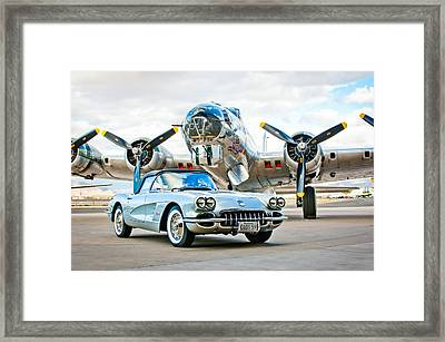 1959 Chevrolet Corvette Framed Print by Jill Reger